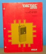 +RCA TACTEX Series UHF Portable Hand Held Transceiver IB80281021 Service Manual