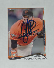 YUSMEIRO PETIT SIGNED AUTO'D 2014 TOPPS CARD #127 SAN FRANCISCO GIANTS ANGELS