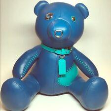 NWT COACH Blue Denim Leather Teddy Bear ACE Collectible LIMITED EDITION 56844