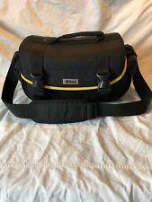 Vintage Nikon Black Canvas Camera Carrying Shoulder Bag