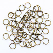 4/5/6/8/10/12mm Double Metal Split Rings Jewelry Making DIY 200-450pcs