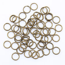 Lots 200-450pcs Metal Double Split Rings 4/5/6/8/10/12mm Jewelry Making DIY