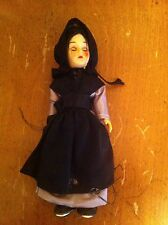 vintage plastic doll dressed in simple period costume dress Unknown Collector