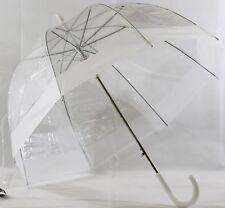 Schöner Regenschirm transparent , Automatik mit weißem  Rand
