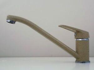 Einhebelmischer Granit Beige Hochdruck Armatur Spültischarmatur Wasserhahn