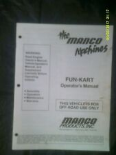 Preowned Manco Products 1992 Fun Kart Operator's Manual #4350