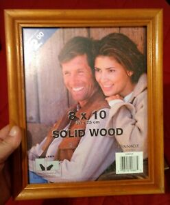 Two 8 x 10 Inch Wood With Glass Face Picture Frames - Home Decor NOS