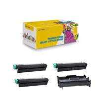 43502001 43501901 Compatible 3 x Toner + Drum Cartridge for Okidata B4400 B4600