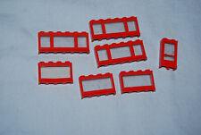 S Lego Lot 7 Vintage Red Windows 645 453 1 x 6 x 2 353 1074