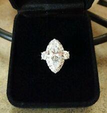 3 Carat Marquise Diamonique Solitaire Engagement Ring Size 5 QVC