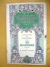 VAUDEVILLE THEATRE- J & R Gatti & R Squire's THE BREADWINNER: W Somerset Maugham