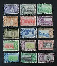 CKStamps: GB Montserrat Stamps Collection Scott#128-142 Mint H OG