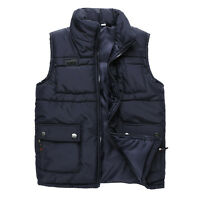 New Brand Men's Down Cotton Waistcoat Vest Old's Black Vest Jacket WM0002
