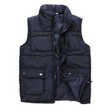 Men's Winter Warm Overcoat Waistcoat Cotton Puff Down Jacket Casual Vest Outwear