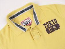 r3921 Tokyo Laundry POLO ORIGINAL Premium Vintage Descolorido AMARILLO TALLA XL