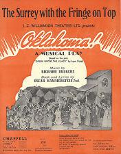 "Rodgers & Hammerstein ""OKLAHOMA!"" Australia / New Zealand Copy 1943 Sheet Music"