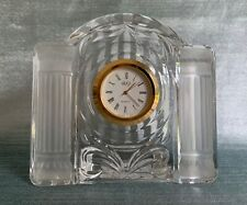 Mikasa Cotilion Frost - Crystal Quartz CLOCK - New Battery and Working