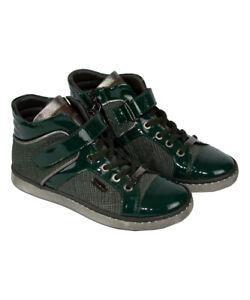 Santoni Jungen Sneaker dunkelgrün Schuhe Sportschuhe NP €235,00