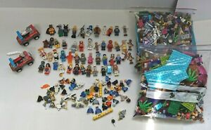 Job Lot Bundle Approx 2kg of Mixed LEGO 50+ Mini-figures Harry Potter, DC Comics