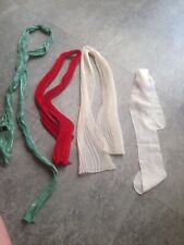 Job lot of four women's scarfs. Green/red And Two Cream