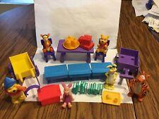 Disney Mattel Winnie the PoohPVC Figures Furniture Accessories Playset Lot