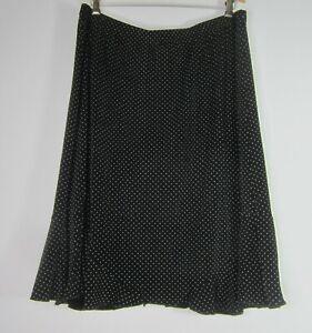 Sybelle Woman Plus 2X Black Polka Dot Flare Skirt Elastic Waist Stretchy Classic