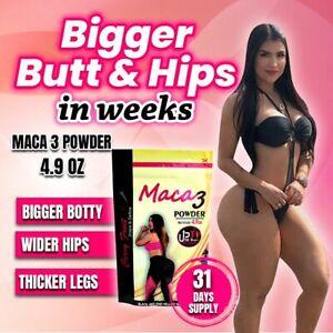 BIGGER BOOTY ,WIDER HIPS & THICKER THIGHS in WEEKS w/ MACA 3 POWDER (1 Month)