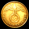 Rare WW2 German 5 Reichspfennig Brass Coin Historical WW2 Authentic Artifact