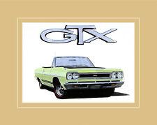 Chrysler Historical Prints 1968 Plymouth GTX Convertible 440 Poster Kunstdruck