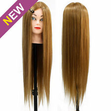 80% Real Human Hair Hairdressing Training Head Salon Mannequin Doll Practice
