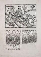 BIBEL BLATT 10. DEUTSCHE BIBEL VOR LUTHER GRÜNINGER STRASBOURG TOD MOSE 1485