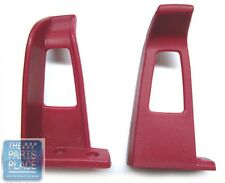 1978-88 GM Seat Belt Guides - Red - Pair