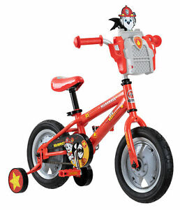 Nickelodeon Kids Bike Play Ride PAW Patrol Marshall Bicycle w/ Training Wheels