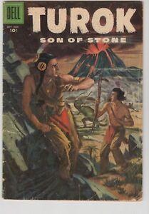 TUROK, SON OF STONE #5 1956 DELL GD/VG CONDITION