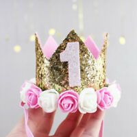Baby-Girl-First-Birthday-Party-Hat-Flower-Princess-Crown-Decor-Hair-Accessory