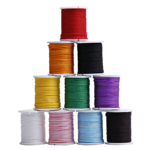 10 Rolls Waxed Nylon Cord 1mm String Thread Bracelet Rope Jewelry Making Craft