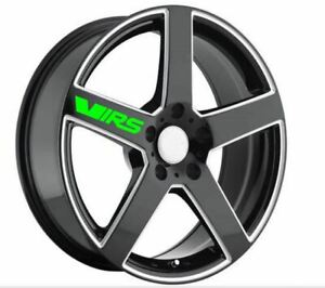6 X CUSTOM SKODA VRS ALLOY WHEEL DECALS Free P&P BE DIFFERENT STAND OUT BARGAIN