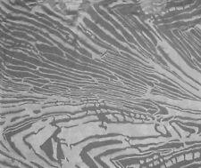 "Burnout DEVORE Silk SATIN Fabric TIGER STRIPES 8""x12"" remnant"