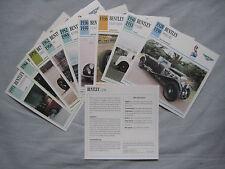 Bentley Collectors Classic Car Cards
