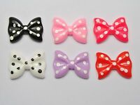 20 Mixed Color Cabochons Bowknot Bow Tie Flatback Resin 27X20mm Embellishments