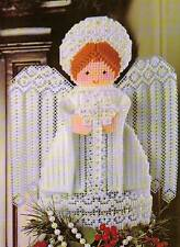 TREETOP ANGEL TOPPER CHRISTMAS PLASTIC CANVAS PATTERN INSTRUCTIONS