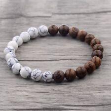 Fashion Charm 8mm Wood Beads Energy Yoga Reiki Women Men Bracelets Xmas Gift