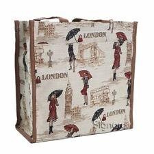 Signare Shopper Miss London Tower Bridge Bus Gobelin Einkaufstasche Miss L