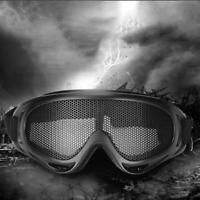 Airsoft Tactical Vented Safety Goggles Glasses Eye Protective Wire Mesh Black