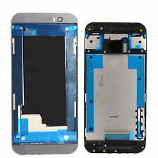 ORIGINALE HTC One m9 chassis LCD FRAME CORNICE CENTRALE HOUSING BEZEL COVER GRIGIO NUOVO