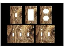 Rustic Wood Grain Made From Plastic Light Switch Covers Design Home Decor