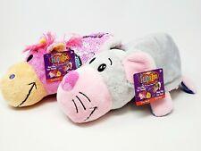 "FlipaZoo Rozene Unicorn Berry Mouse 12"" Reversible Stuffed Plush Sequin Nwt"