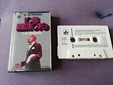 LOUIS ARMSTRONG EL AUTENTICO CINTA TAPE CASSETTE 1976 SPANISH EDITION NEVADA
