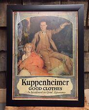 Rare Early 1900's KUPPENHEIMER Good Cloths Clothing Store Advertising Sign Frame