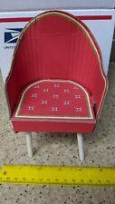 1962-63 Barbie Fashion Shop Chair Mattel Doll Furniture Red